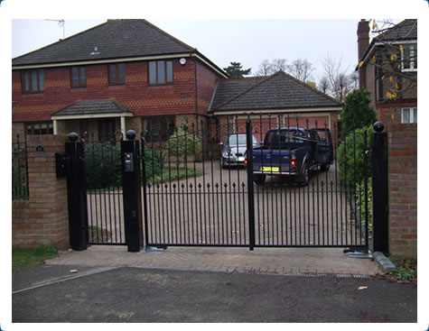 Stylish Driveway Gates Photo